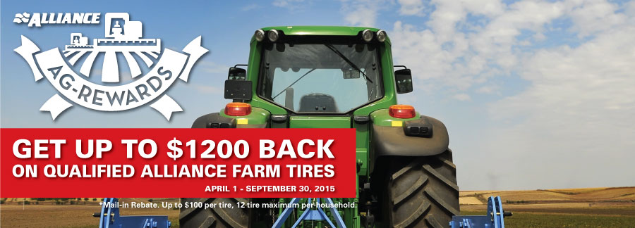 Alliance has Hundreds of available farm tire sizes and tread patterns